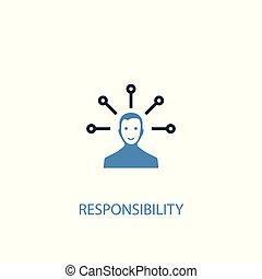 azul, ser, conceito, colorido, teia, simples, símbolo, elemento, móvel, usado, responsabilidade, lata, illustration., 2, icon., design.
