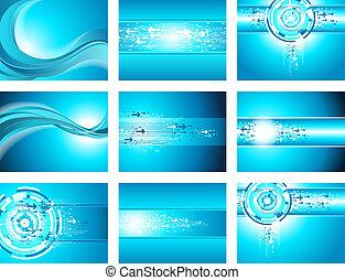 azul, seta, local, cobrança, onda, fundo
