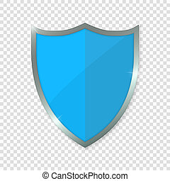 azul, shield., vetorial, ilustração