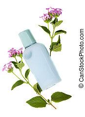 azul, shumpoo, fresco, naturaleza