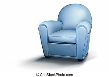 azul, sillón