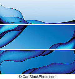 azul, site web, jogo, coloridos, abstratos, cabeçalho, vetorial, bandeira, ou