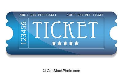 azul, sitio web, entrada película, su, especial
