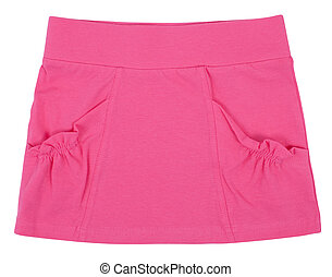 azul, skirt., mujer, aislado, niño, blanco, o