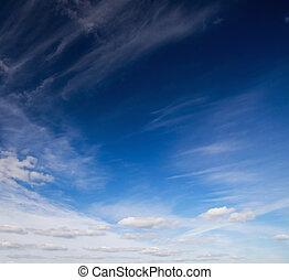 azul, sky.