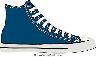 azul, sneakers