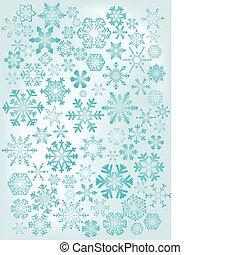 azul, snowflakes