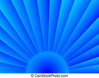 azul, sol