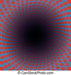 azul, spirale, colorido, vibrante, padrão, vermelho