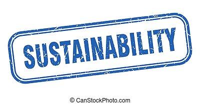 azul, stamp., grunge, quadrado, sustainability, sinal