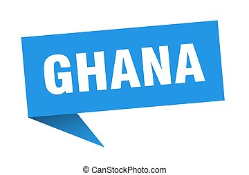 azul, sticker., indicador, señal, poste indicador, ghana
