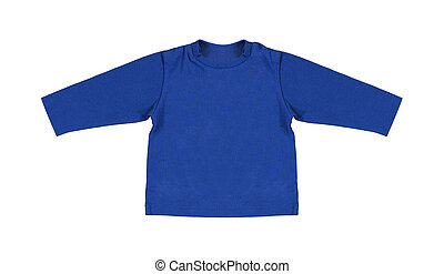 azul, suéter, aislado