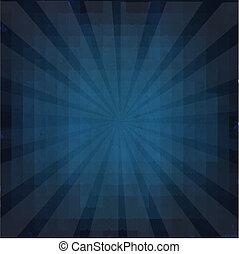 azul, sunburst, grunge, fundo, textura