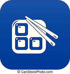 azul, sushi, vetorial, ícone