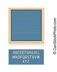 azul, tábua, letra