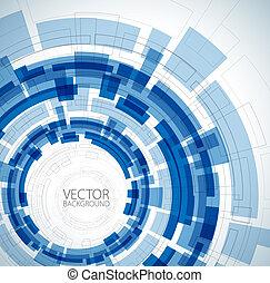 azul, técnico, abstratos, fundo