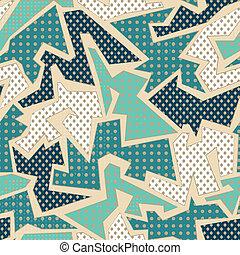 azul, têxtil, geomã©´ricas, seamless, padrão