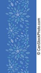 azul, têxtil, peony, flores, vertical, seamless, padrão,...