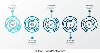 azul, tabela, infographic, 3d