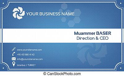 azul, tarjeta comercial, creativo