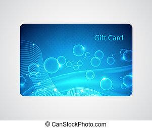 azul, tarjeta obsequio