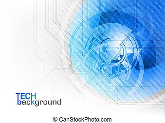 azul, tecnología