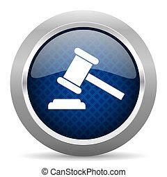 azul, tela, subasta, botón, círculo blanco, móvil, plano de fondo, brillante, internet, app, redondo, icono