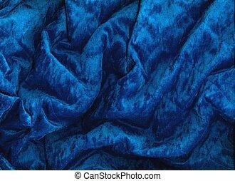 azul, terciopelo