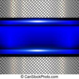 azul, textura, fundo, metalic