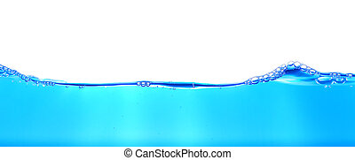 azul, textura, profundo, plano de fondo, burbuja, agua