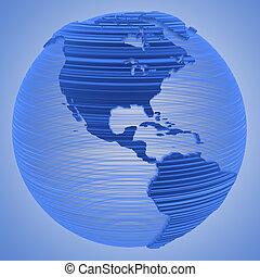 azul, tierra, tecnología