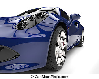azul, tiro, coche, faro, -, real, deportes, primer plano, extremo