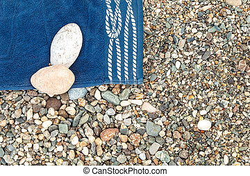 azul, toalha praia