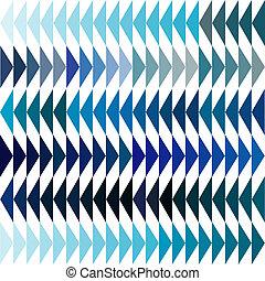 azul, tonos, triángulos, Plano de fondo
