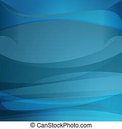 azul, transparência, onda, fundo