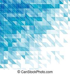 azul, triângulos, abstratos, linhas, fundo, quadrados