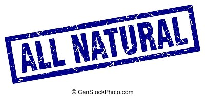 azul, tudo, quadrado, natural, selo, grunge