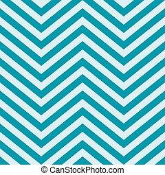 azul, turquesa, espalda, forma, galón, v