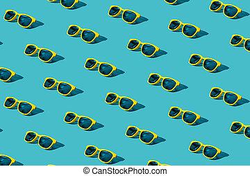 azul, turquesa, patrón, gafas de sol, plano de fondo, ...