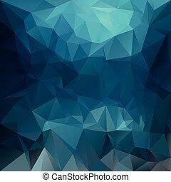 azul, turquesa, pauta fondo, -, triangular, profundo, polygonal, colores, vector, diseño, mar