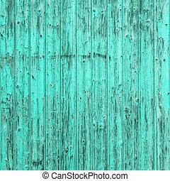 azul, turquesa, viejo, andrajoso, textura de madera, fondo...