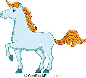 azul, unicornio