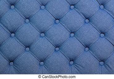 azul, upholstery, tecido, tufted, capitone, textura