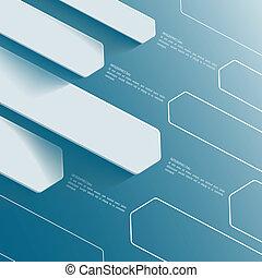 azul, uso, presentación negocio, resumen, bandera, template.