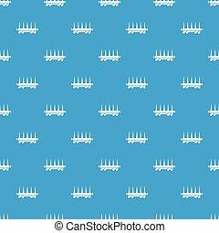 azul, vagão, padrão, seamless, entrega, vetorial