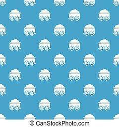 azul, vagão, vetorial, padrão, seamless, trem