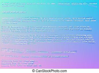 azul, vaporwave, estilo, tela, sistema, glitch, operando,...