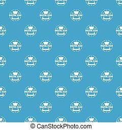 azul, varredura, padrão, seamless, vetorial, digital