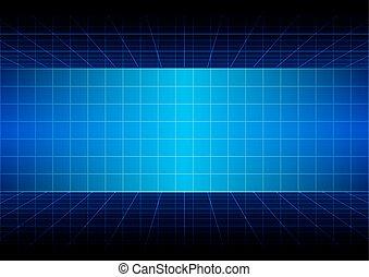 azul, vector., abstratos, ilustração, experiência grade, design.