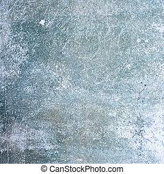 azul, vendimia, grunge, texture., wall.